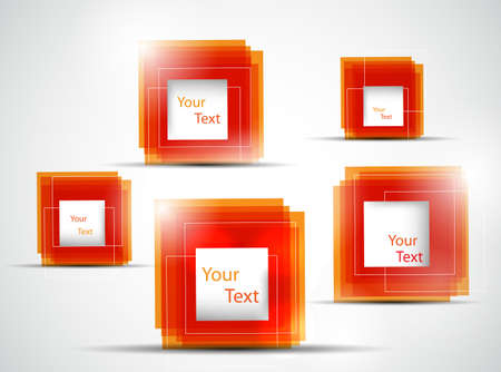orange abstract frames illustration