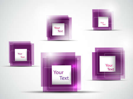 pink abstract frames illustration Illustration