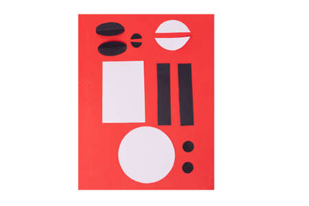 easy shape paper cut for craft for kids, step by step instruction, DIY, year of the ox concept