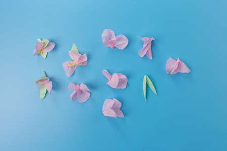 how to make a easy paper flower, step by step instruction, DIY, spring or easter craft activity for kids