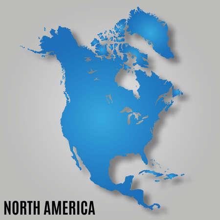 map of north america continent  vector illustration Illustration
