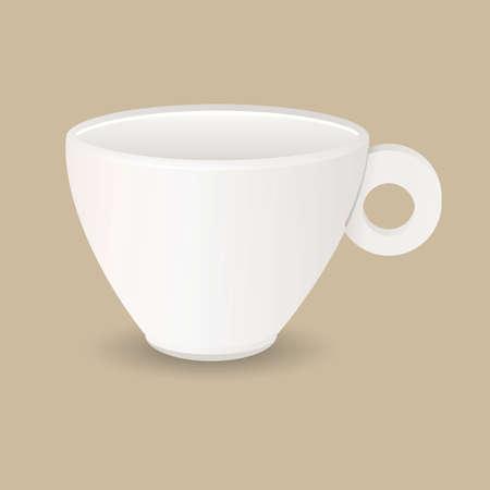 ceramic: Cer�mica blanca de caf� espresso taza vector ullustration