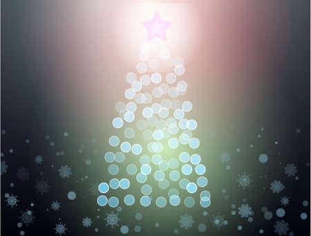 christmass tree: abstract christmass tree dark background vector illustration Illustration
