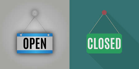 close icon: realistic and flat design with shadow plate closed and open