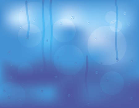 flysheet: Water drops on glass background, vector illustration Illustration