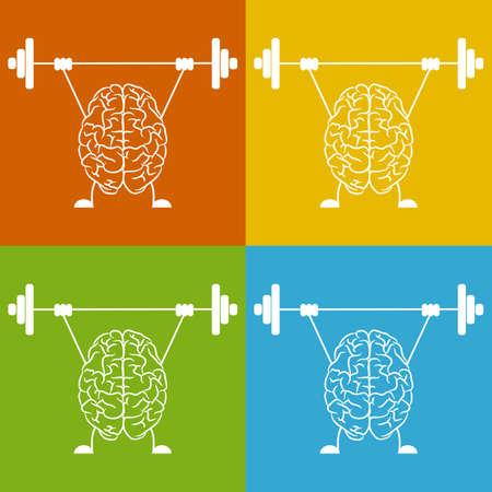 Train your brain. Creative concept vector illustration. Ilustrace
