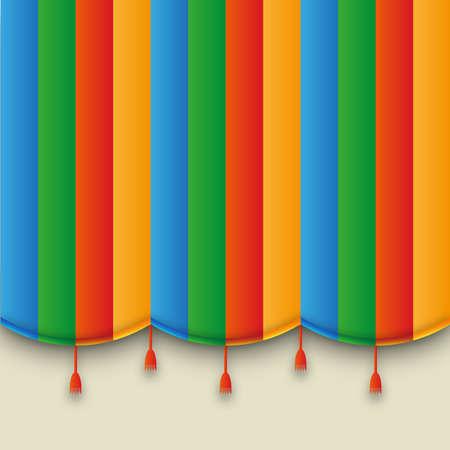 CARNAVAL: fond modèle pour l'affiche de la carte allpaper avec rétro théâtre carnaval rideau.