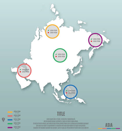 asiatic: asia continent template for infographics vector illustration Illustration