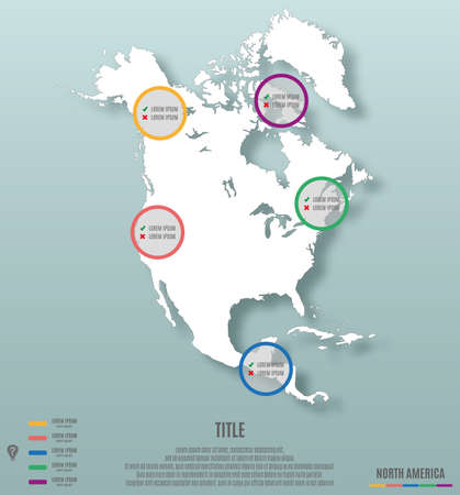 am�rique du nord: north america continent template for infographics vector illustration