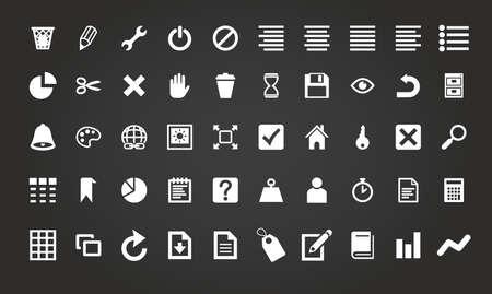 Eenvoudige zakelijke en kantoor pictogram set vector illustratie Stock Illustratie