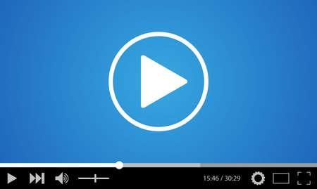 icono computadora: dise�o de la plantilla plana reproductor de v�deo para la web y aplicaciones m�viles. ilustraci�n vectorial