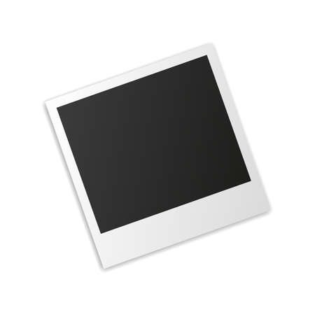 polariod frame: instant photo frame with shadow isolated on white background. vector illustration Illustration