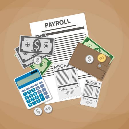 Payroll Concept Payroll Invoice Sheet Check Receipt Calculator – Payroll Receipt