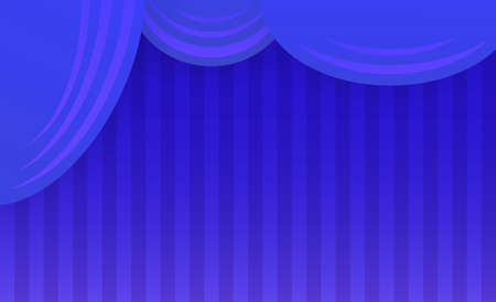 blue curtain: Abstract theater stage with blue curtain. Vector illustration