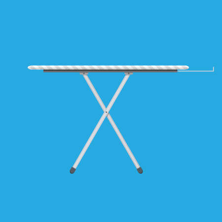 smooth legs: ironing board Icon, Ironing board with stripe pattern. vector illustration in flat style on blue background