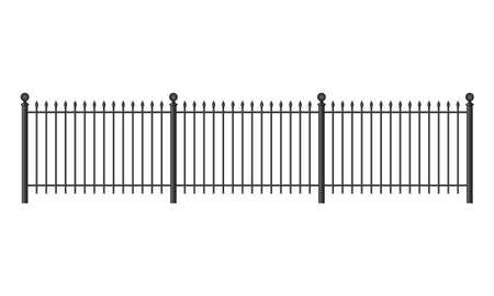 smithery: Black forged lattice fence. vector illustration isolated on white background Illustration
