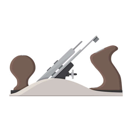 jointer plane. hand tool for carpentry. vector illustration in flat style