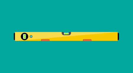 Yellow building level. plastic bubble level, vector illustration in flat style Illustration