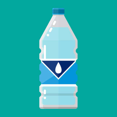 pure: plastic bottle of pure water Illustration