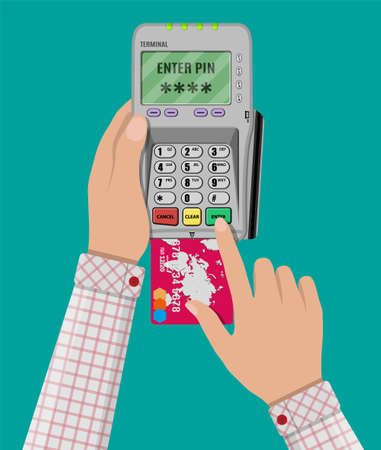 pin code: enters pin code for card on pos terminal