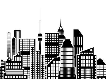 city view: Modern City View. Cityscape