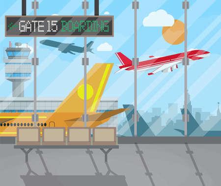 airport terminal: airport terminal background