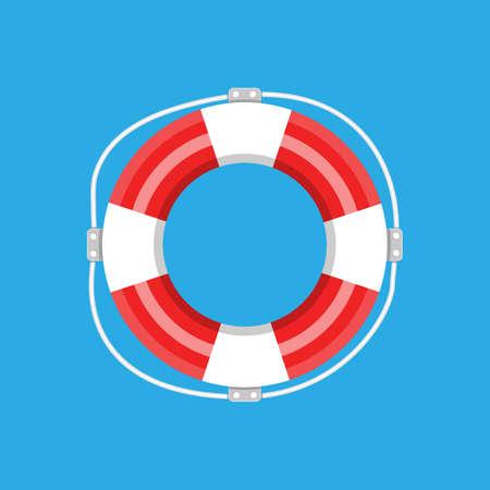 salvavidas: Salvavidas aislados. ilustración vectorial