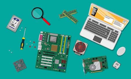 PC zusammenbauen. Personal-Computer-Hardware.