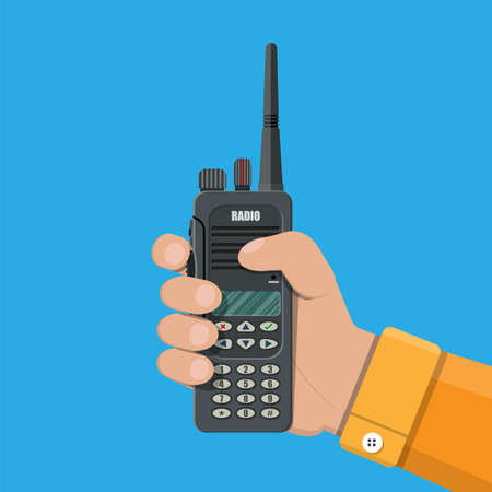 portable radio: Modern portable handheld radio device