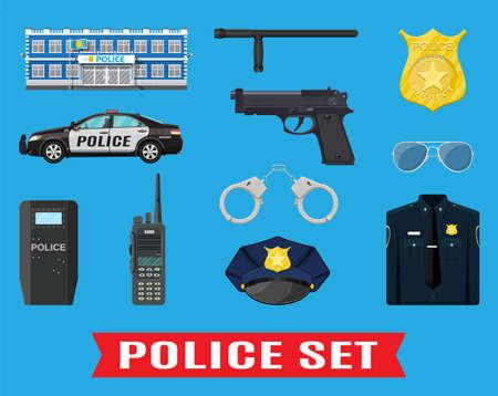 Police equipment set.