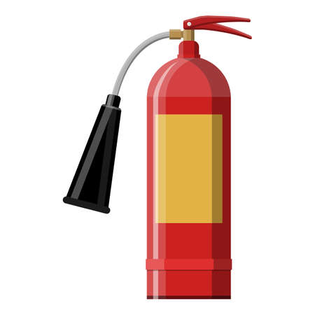hazard: Fire extinguisher. Fire equipment in flat style Illustration