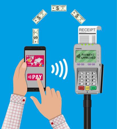 nfc: Nfc payments concept.