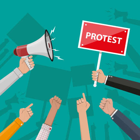 Protest concept with megaphone