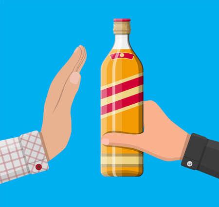 Concept d'abus d'alcool. Vecteurs