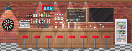 Intérieur de pub, café ou bar. Banque d'images - 83503916