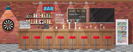 Interieur van pub, café of bar.