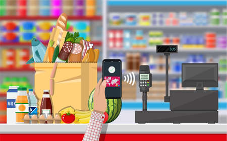 Nfc payment in supermarket