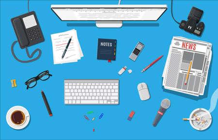 Schriftsteller oder Journalist Arbeitsplatz.