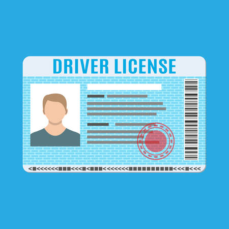 car isolated: Driver license vehicle identity.