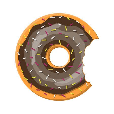 cocking: Donut cake set isolated on white background.