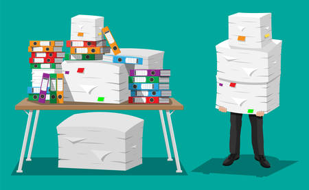 Desk Office File Document Paper Intended Businessman Holds Pile Of Office Papers And Documentsdocuments File Folders On Table Holds Pile Of Office Papers And Documentsdocuments