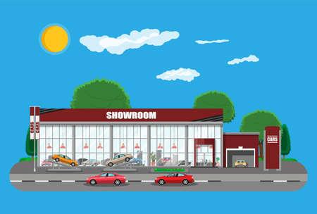 Exhibition pavilion, showroom or dealership.