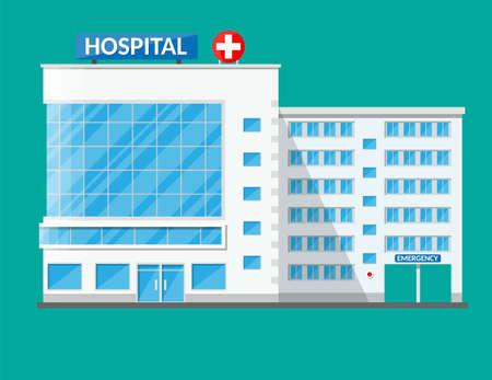Krankenhausgebäude, medizinische Ikone Standard-Bild - 88210730