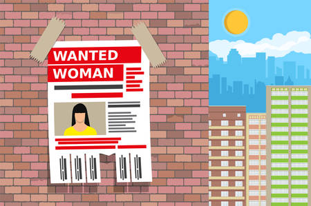 Wanted person paper poster.
