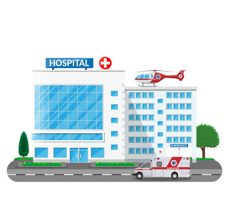 Hospital building.