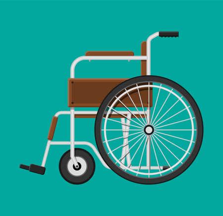 Fauteuil roulant à l'hôpital. Isolé sur fond bleu Banque d'images - 88763896