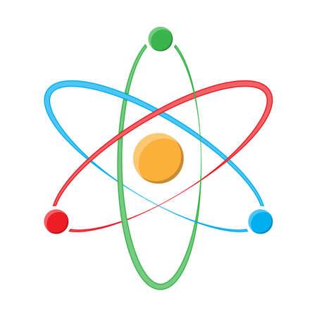 Atom symbol icon design.