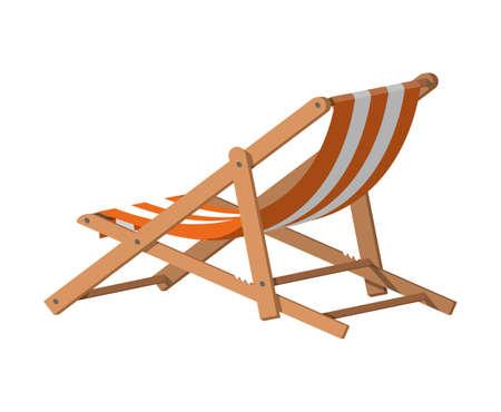 Wooden chaise lounge. Illusztráció