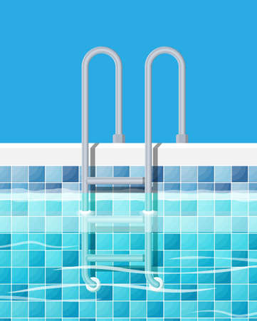 Swimming pool and ladder. Illustration
