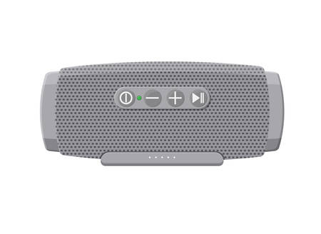 Portable wireless speaker device illustration in flat style